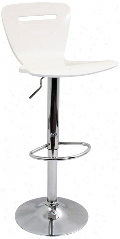 H2  Adjustable Height Counter Or White Bar Stool (p5360)