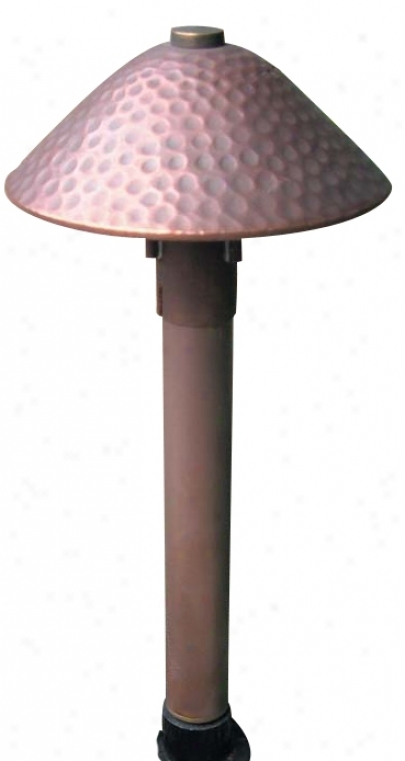 "Hadco Hand-nammered Copper 14 7//8"" High Path Light (27529)"