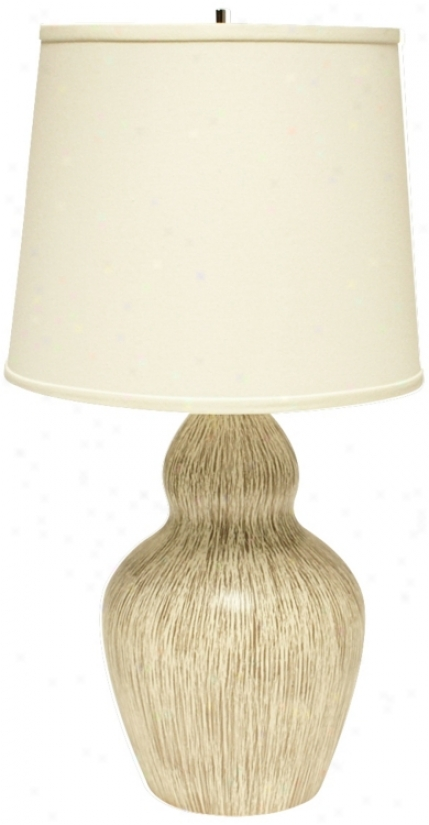 Haeger Potteries Double Gourd Wheat Grass Ceramic Table Lamp (u5543)