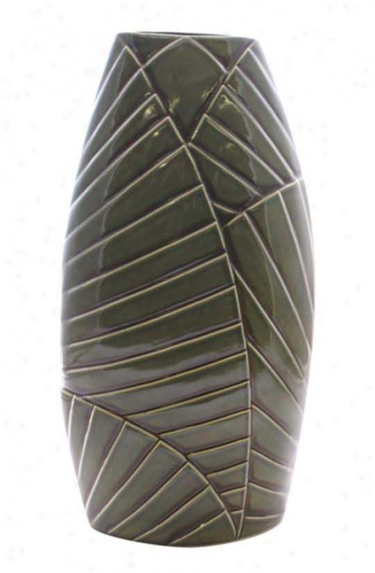 "Haeger Potteries Palm Grove 26"" Ceramic Vase (j9260)"