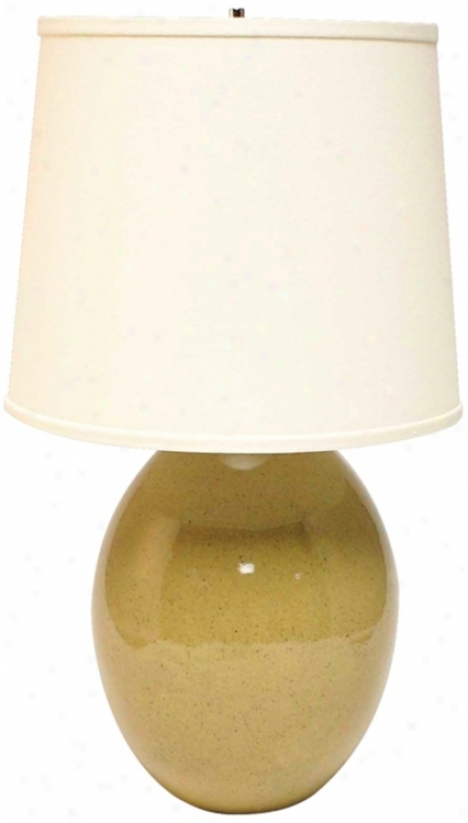 Haeger Potteries Sage Ceramic Egg Table Lamp (p1922)