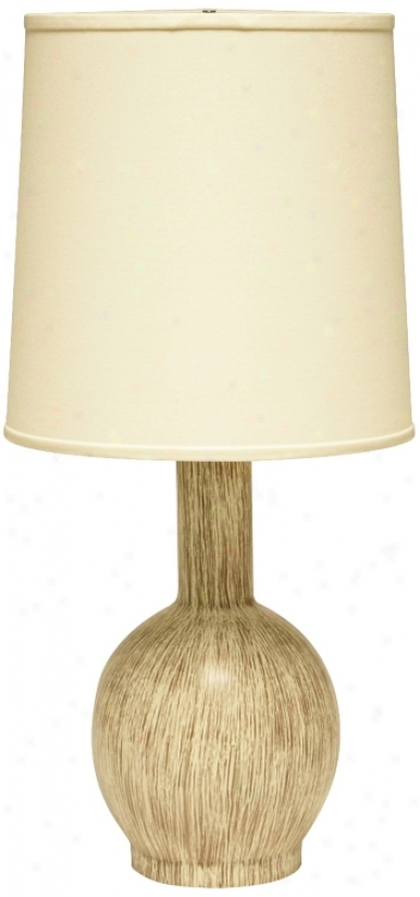 Haeger Potteries Wheat Grass Bottle Ceramic Slab Lamp (u5711)