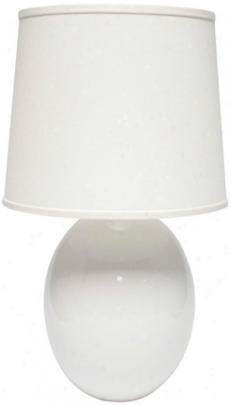 Haeger Potteries White Ceramic Egg Table Lamp (p1923)
