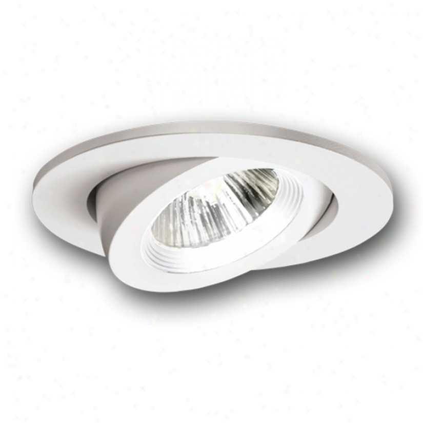 """Halo 3"""" White Recessed Trim With Adjustable Gimbal (41915)"""