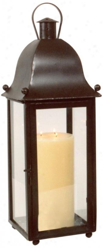 Hand-forged Iron Grande San Juan Lantern In the opinion of Rust Finish (u7352)