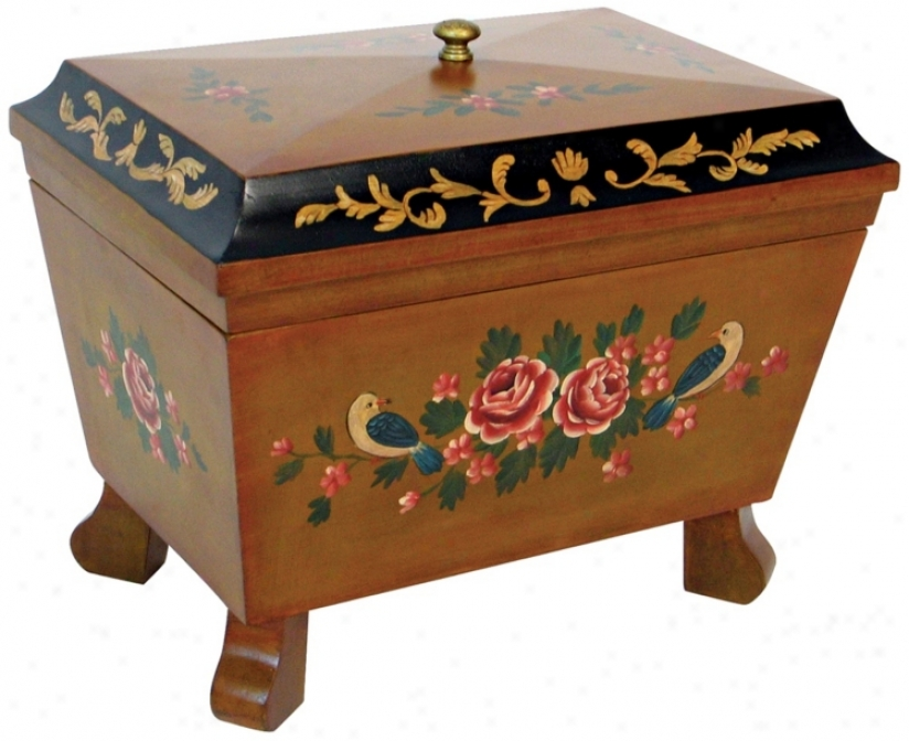 Hand-painted Box With Moldings (h2311)