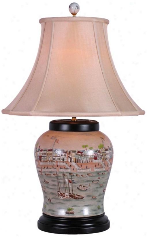 Hang Porcelain Wine Urntable Lamp (v2498)