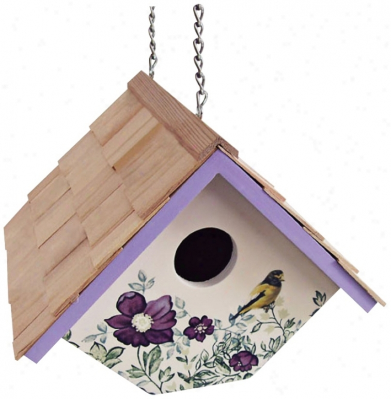 Hanging Anemone And Cream  Wren Birdhouse (t3239)