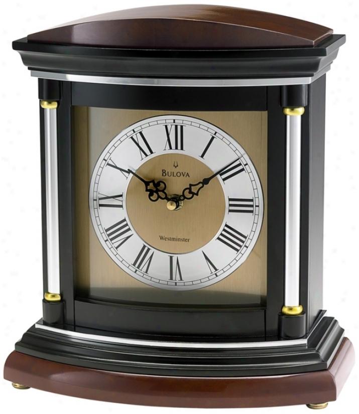 "Hanoger 11"" High Westminster Melody Bulova Mantel Clock (v1927)"