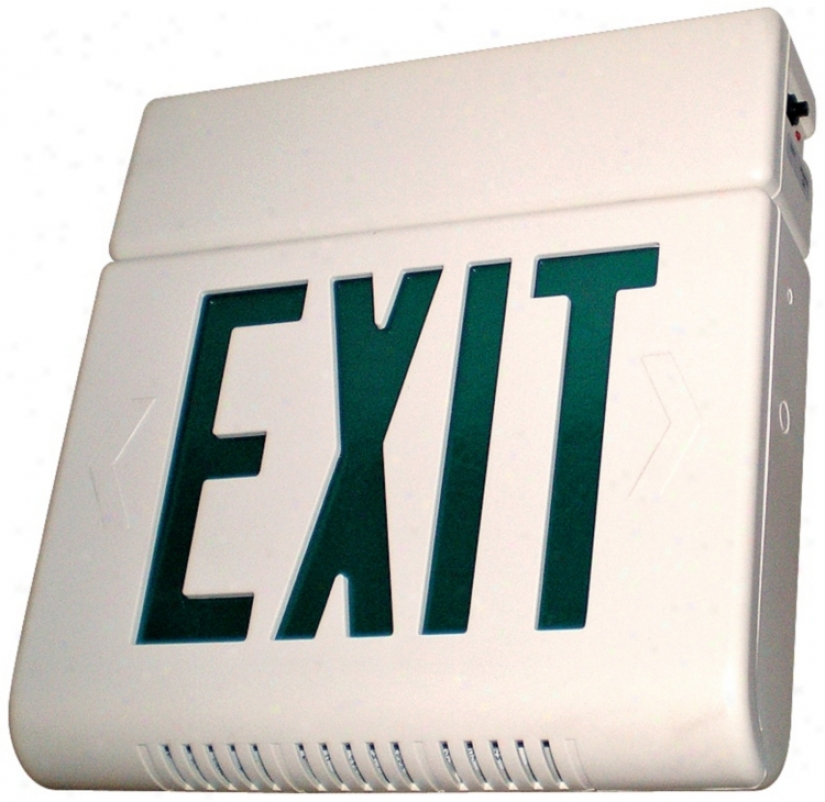 Hardwire With Battery Backup Lighted Exit Sign (01625)