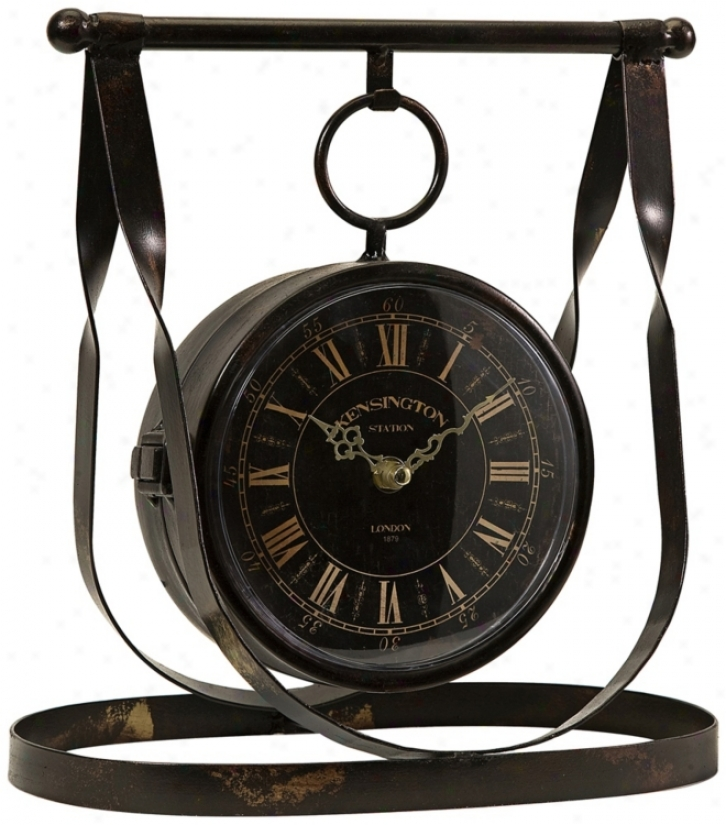 Harness Iron Tabletop Double-side Clock (w1723)