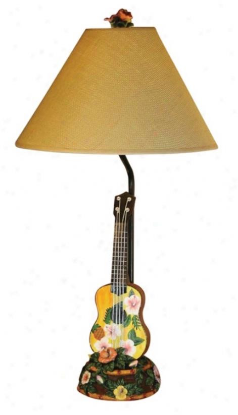 Hawaiian Ukulele Table Lamp (f6348)