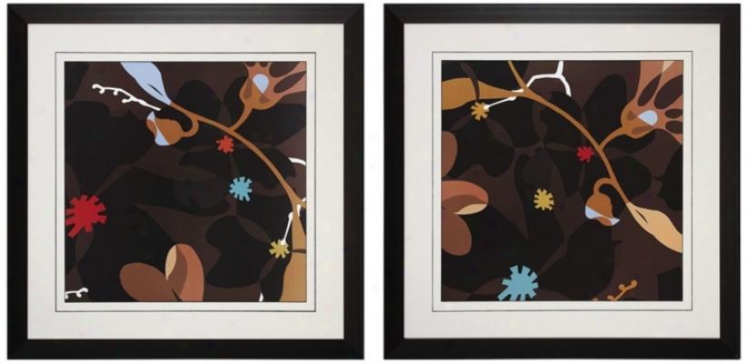 Hazel's Delight Prints I And Ii Wall Arg (n3145)
