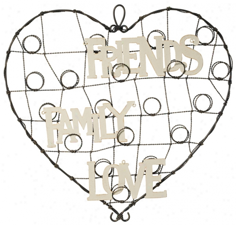 Heart Metal Love, Family, Friends Card Holder (n6934)
