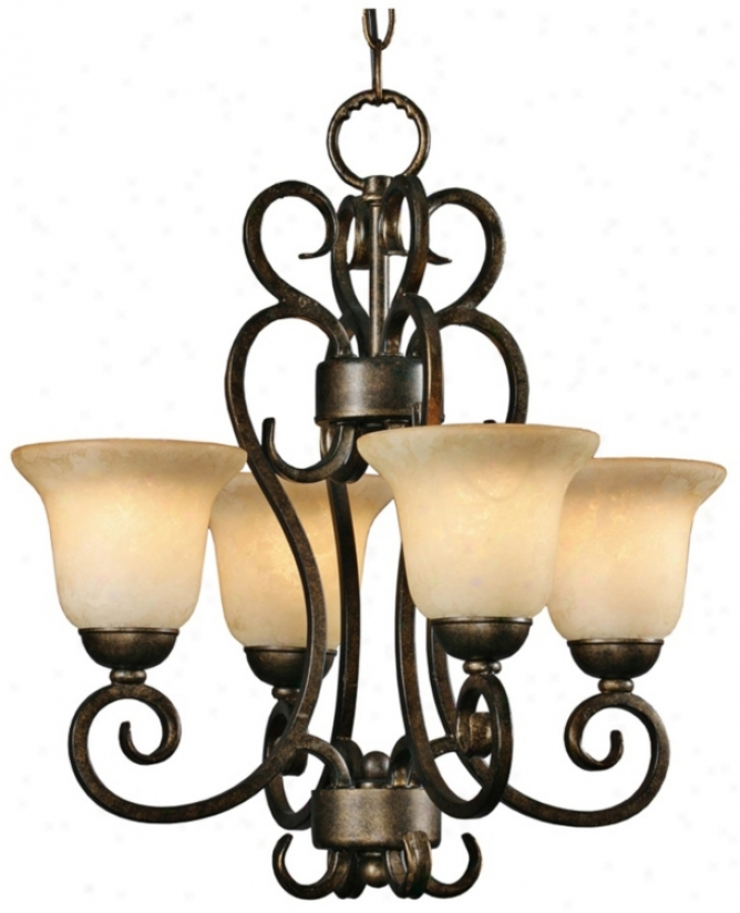 "Heartwood Burnt Sienna 17 3/4"" Wide 4-light Chandelier (t1505)"