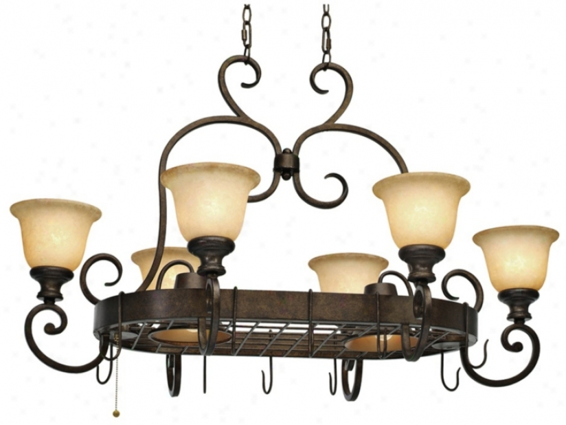 "Heartwood Burnt Sienna 42"" Wide Island Chandelier (t1520)"