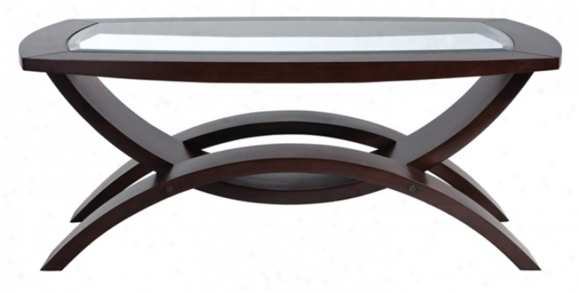 Helix Collection Rectangular Cocktail Table (j9497)