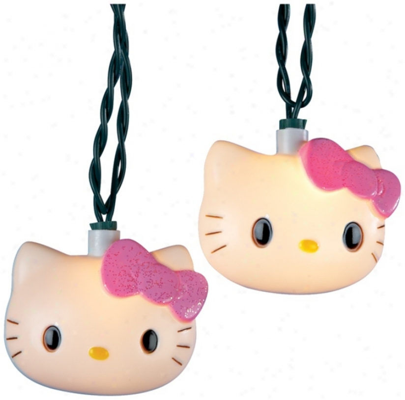 Hello Kitty 10-light String Of Party Lights (n6353)