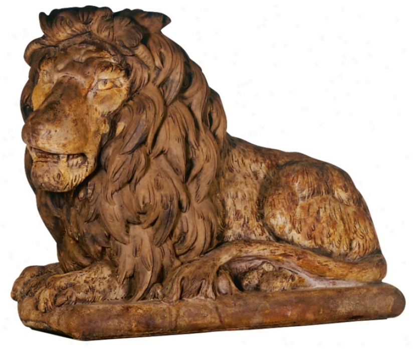 Henri Studios Grand Lion Facing Left Garden Sculpture (31439)
