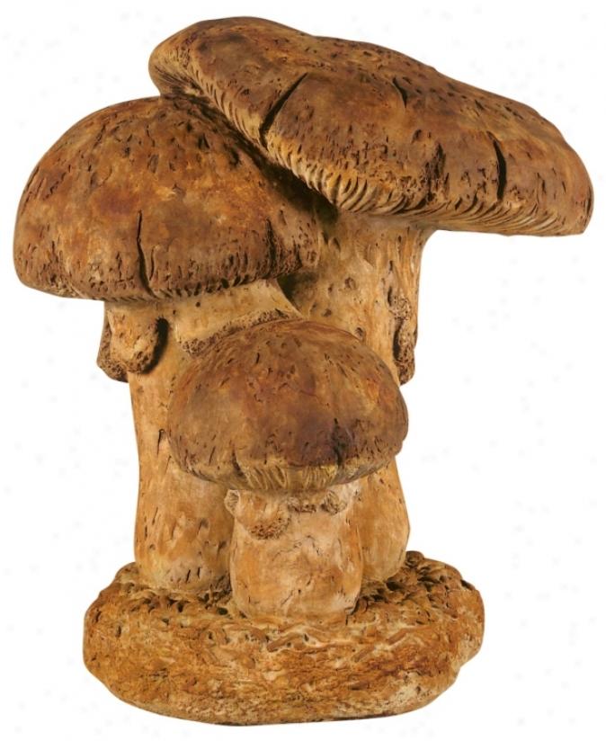 Henri Studios Large Triple Mushroom Garden Sculpture (28531)