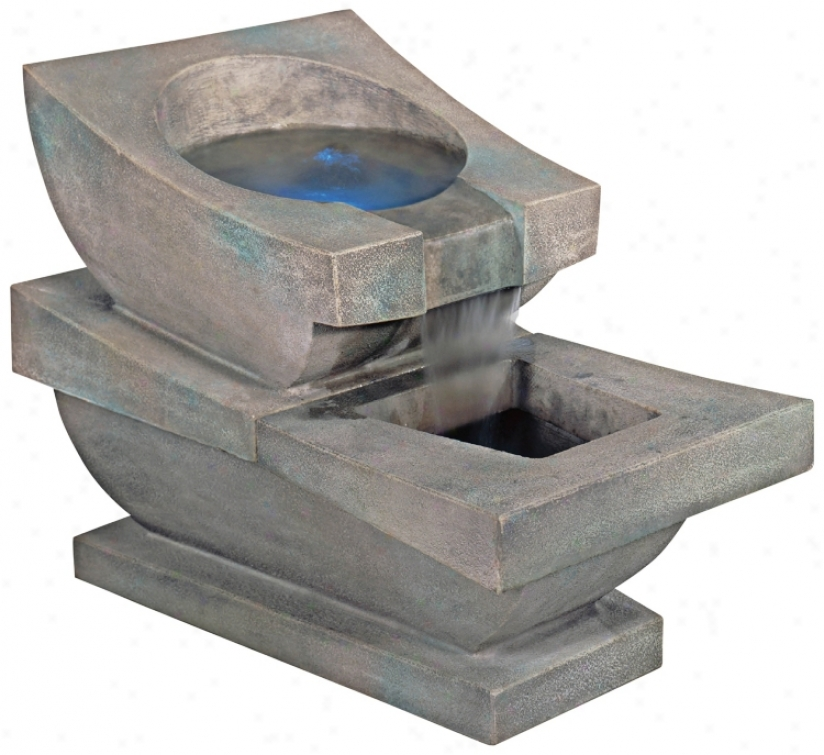 Henri Studiod Prairie Spill Basin With Led Light Fountain (79054)