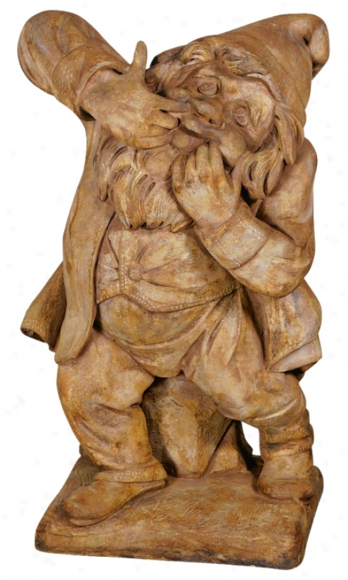Henri Studios Prankster Garden Gnome Yard Sculpture (29303)