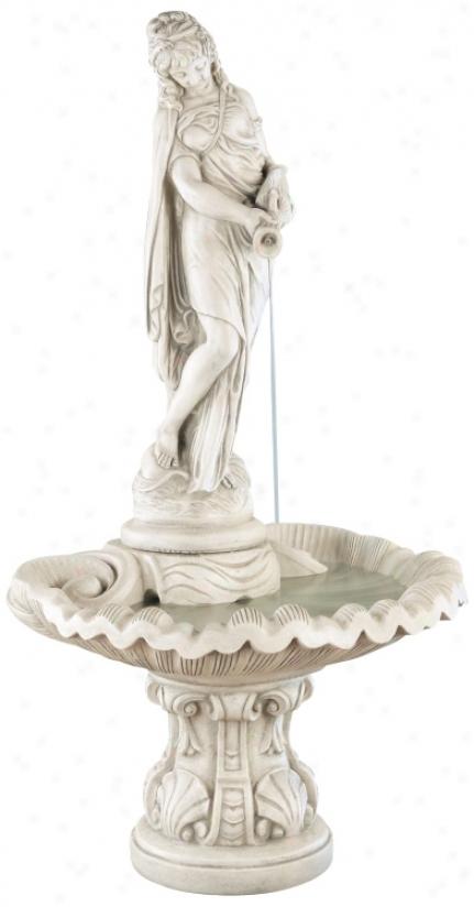 Henri Studios Rosalie Pompeii Cast Stone Garden Fountain (03347)