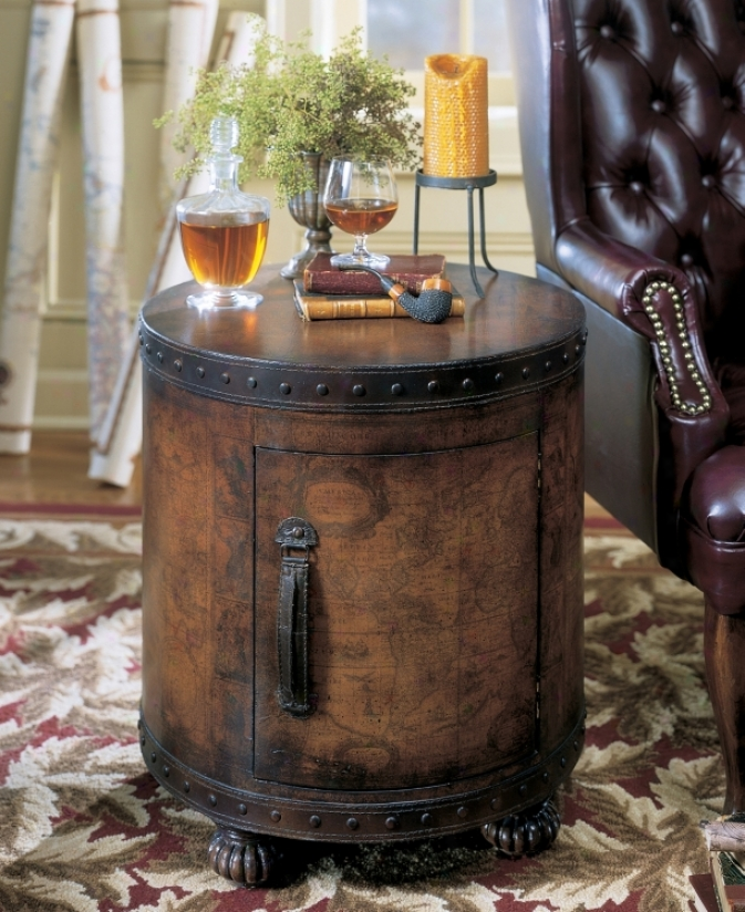 Heritage Duffel Drum Table (u4452)