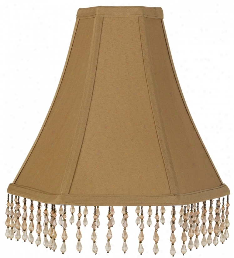 Hexagonal Beaded Trim Lamp Screen 4x11x10 (spider) (11609)