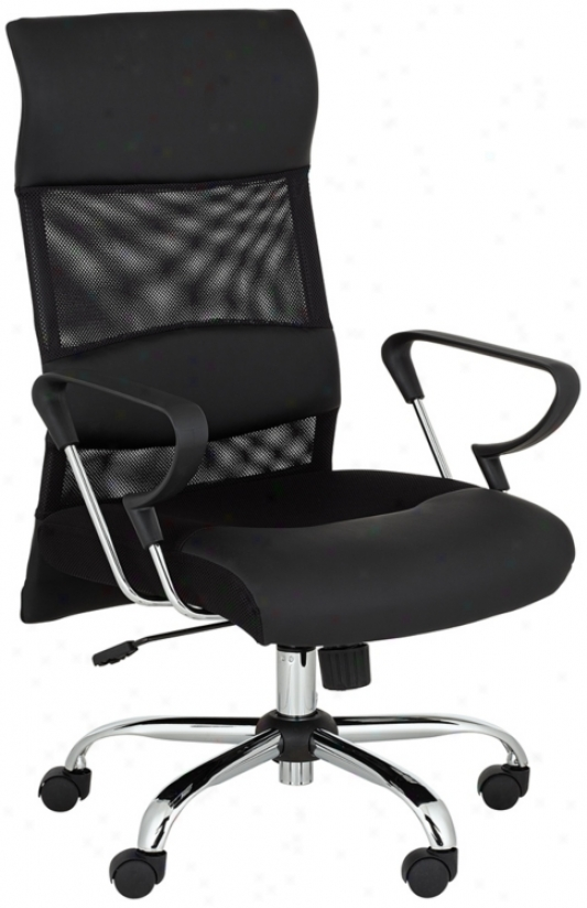 High Back Black Mesh Office Chair (u5683)