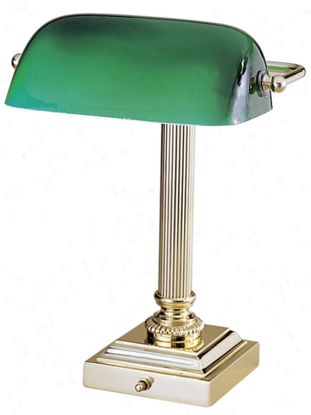 Hightower Polished Brass Des kLamp (83771)