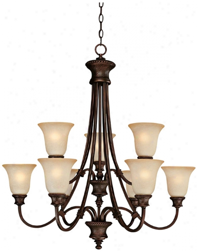 "Hill House Collection 9-light 32 1/2"" Wide Chandelier (t19488)"