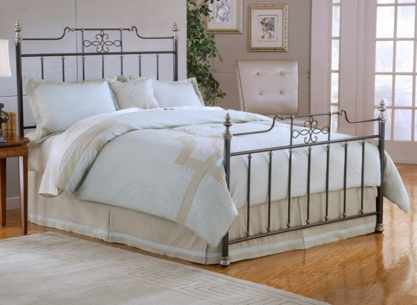 Hillsdale Amelia Frsted Black Spindle Bed Set (king) (v9606)