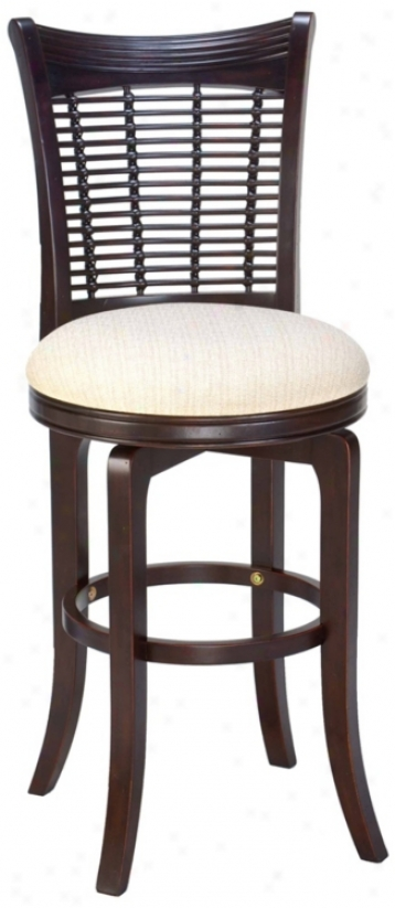 "Hillsdale Bayberry Cherry Swivel 24"" High Counter Stool (f1727)"