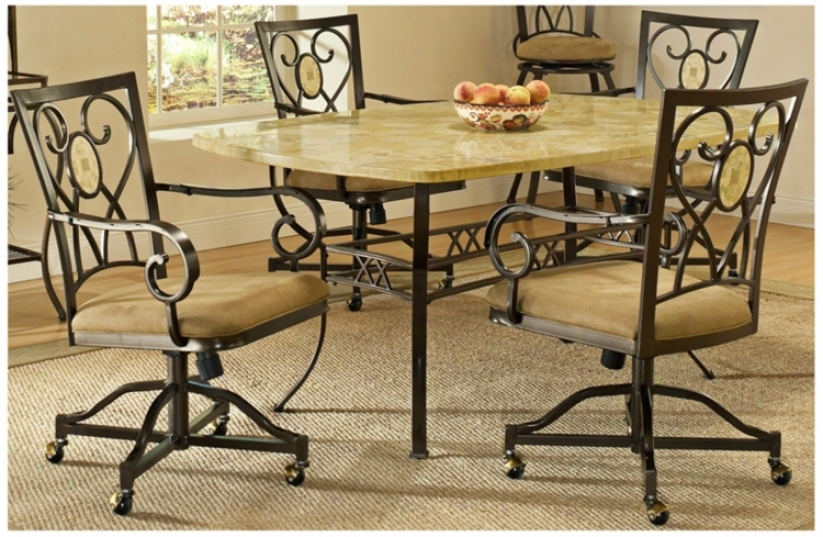 Hillsdale Brookside Rectangle Scrolling 5 Piece Dining Set (t5481)