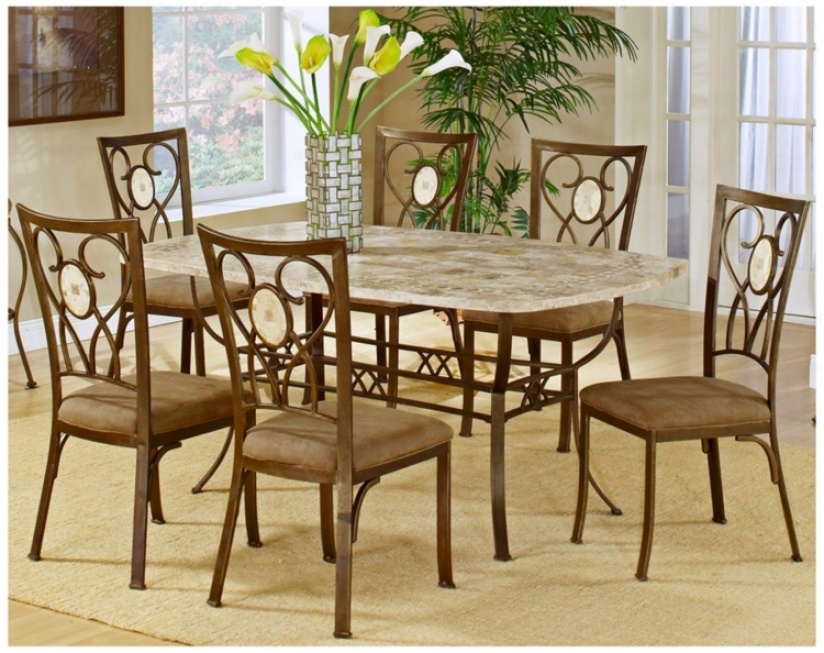 Hillsdale Brookside Scrolling 7 Piece Dining Decline (t5462)