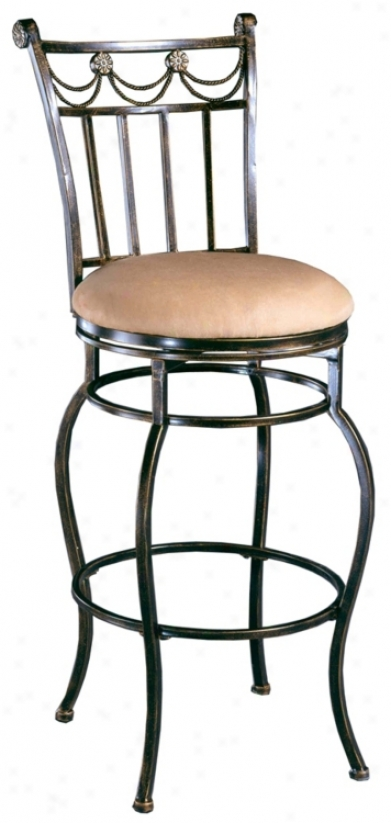 """Hillsdale Camelot Ii Swivel 26"""" High Counter Stool (f8447)"""