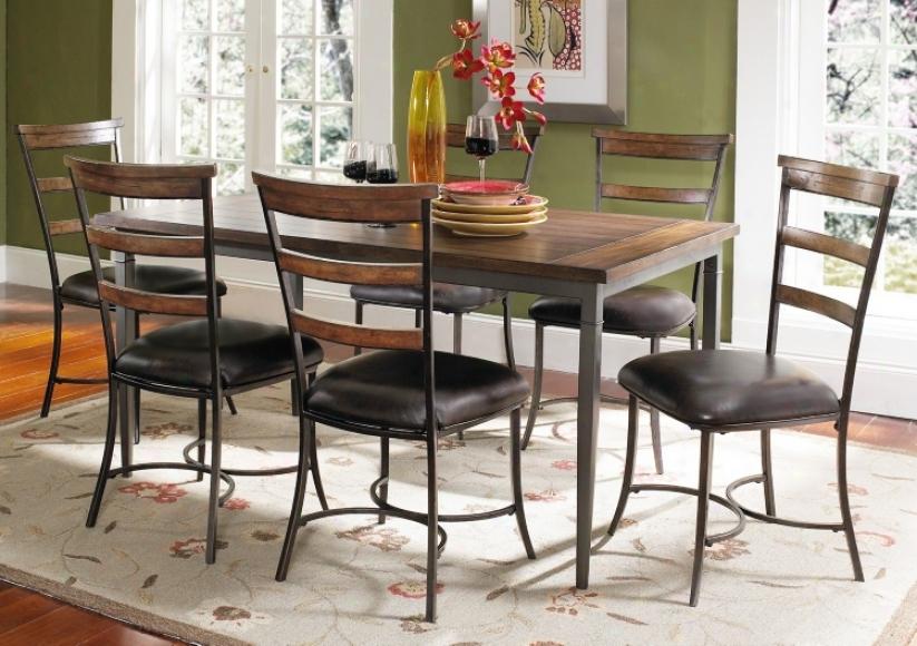 Hillsdale Cameron Rectangle Ladder Back 7-piece Dining Set (v9706)