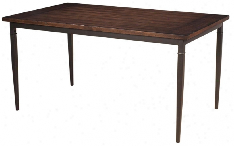 Hillsdale Cameron Revtangle Wood Dining Table (v9709)