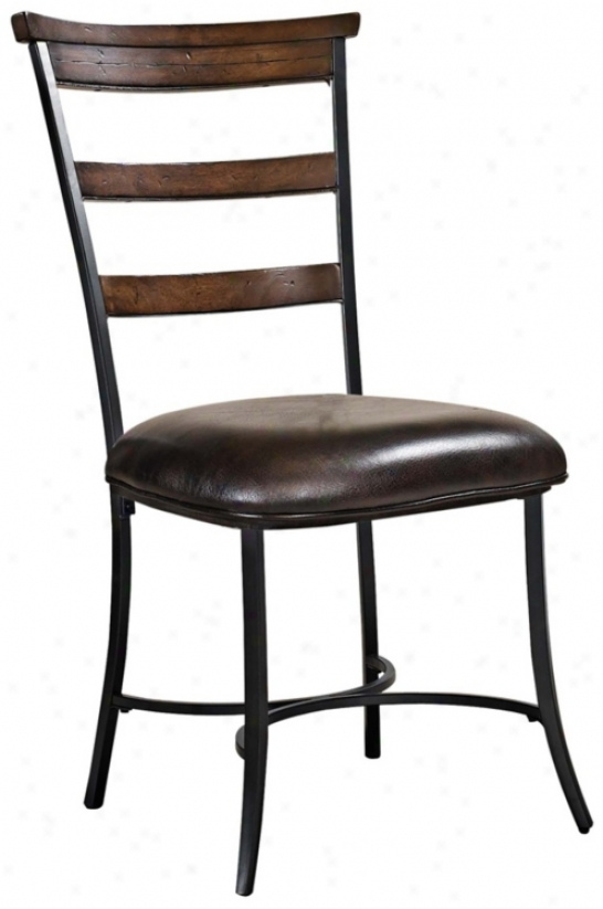 Hillsdale Cameron Se Of 2 Ladder Back Metal Dining Chairs (w0094)