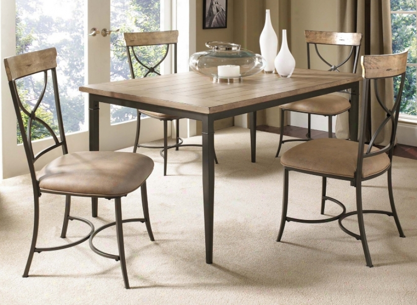 Hillsdale Charleston Rectangle X-back 5-piece Dining Set (v9856)