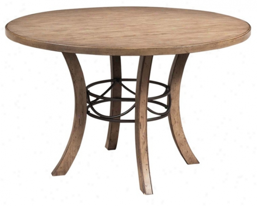 Hillsdale Charieston Smooth Wood And Metal Dining Table V9849