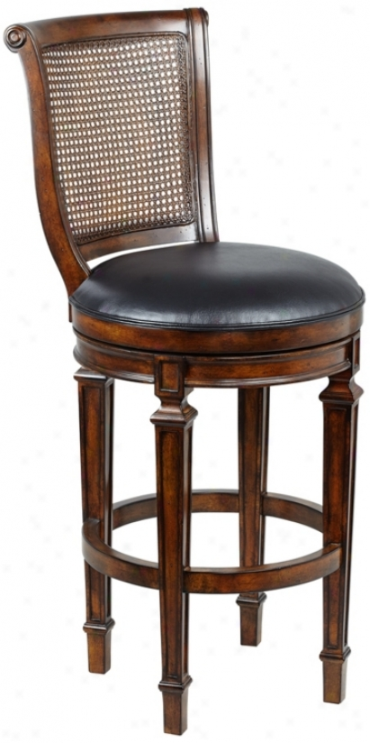 "Hillsdale Dalton 31"" High Cane Back Swivel Bar Stool (n2943)"