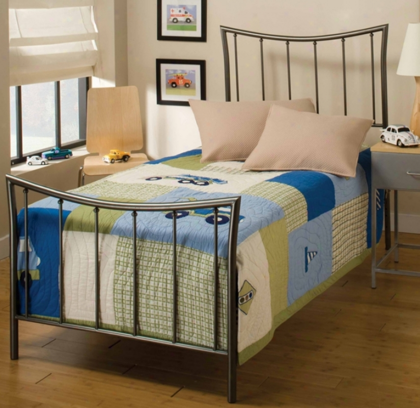 Hillsdale Edgewood Duo Panel Metal Twin Bed (m6490)