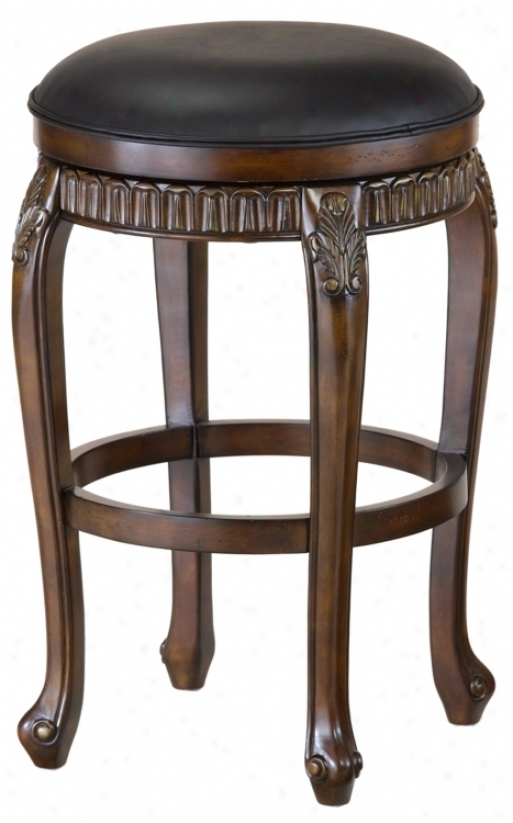 "Hillsdale Fleur-de-lis Cherry 24"" High Contrary Stool (k9709)"