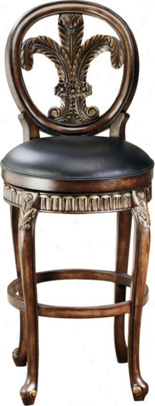 "Hillsdale Fleur De Lis Swivel 31"" High Bar Stool (f8460)"
