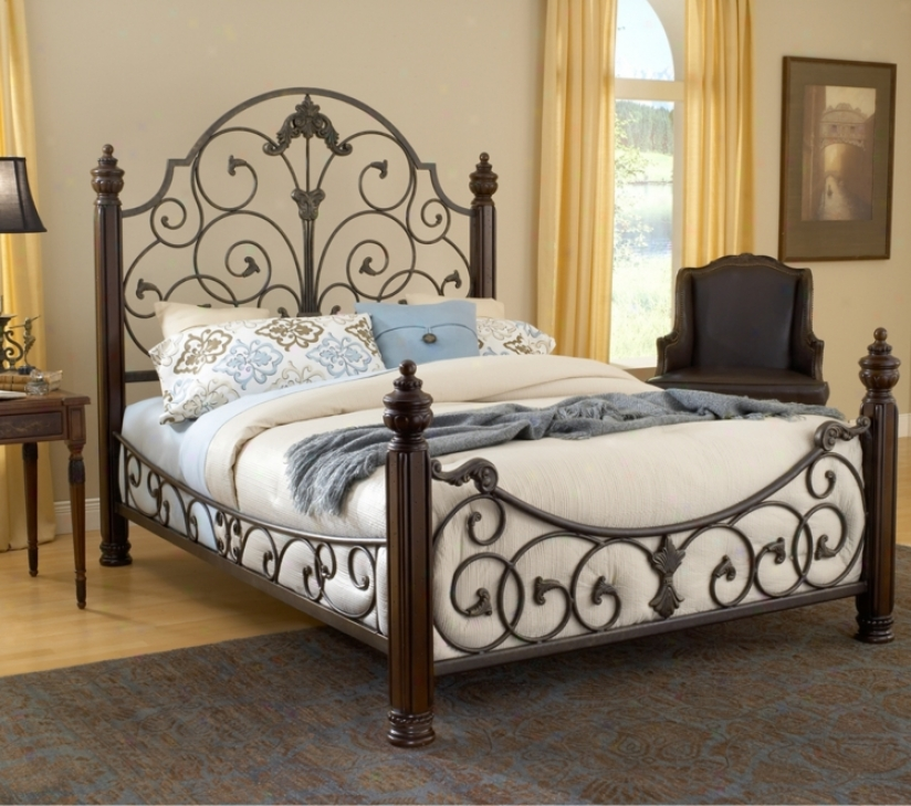 Hi1lsdale Gastone Black Gold Bed (cal King) (t4222)