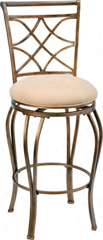 "Hillsdale Glendale Swivel 30"" High Bar Stool (f1757)"