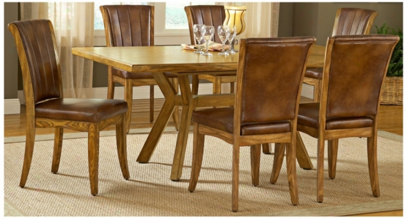 Hillsdale Grand Bay Oak Finiwh Rectangle 7 Part Dining Set (t5521)