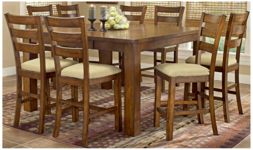 Hillsdale Hemstead Counter Height 9 Piece Dining Set (t5525)